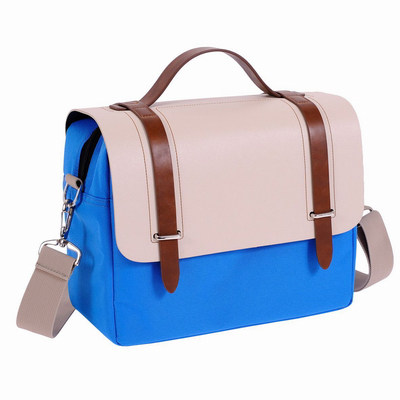 Jenova Fantasy Series DSLR/Mirrorless Shoulder Bag Beige & Blue - Medium 41156BGBL