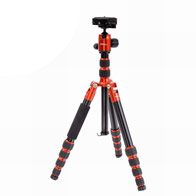 Jenova Carbon Super Portable Travel Tripod 8kg Capacity-Red