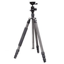 Carbon Travel Tripod; 5 Leg Sections; 15kg Capacity