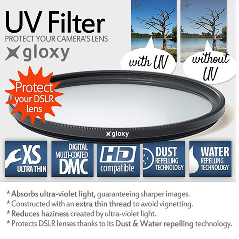 Gloxy Professional Ultra Violet Filter for 86mm DSLR Lenses