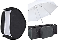 Gloxy Canon Speedlite Studio Kit complete with Triggers and Softbox