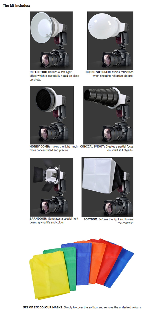 Flashgun light modification Kits