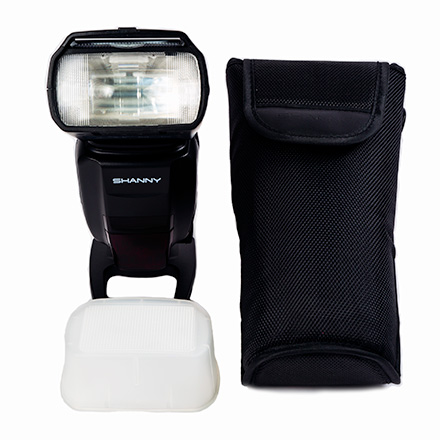 Pouch and Stand included in the Nikon SN910EX-RF model